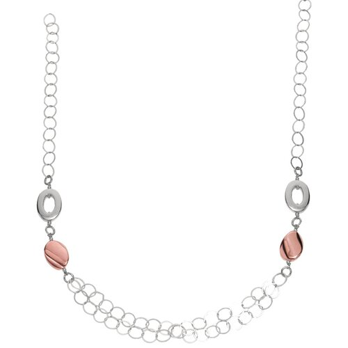 Jewelryweb Sterling Silver Rhodium Plated 28 InchFancy Open Link Necklace