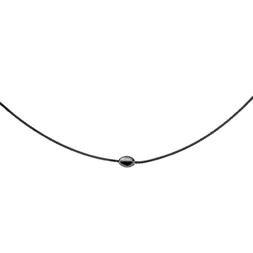 Jewelryweb Sterling Silver Color Plated Black Pl 1.25mmMirror Spri Necklace - 18 Inch