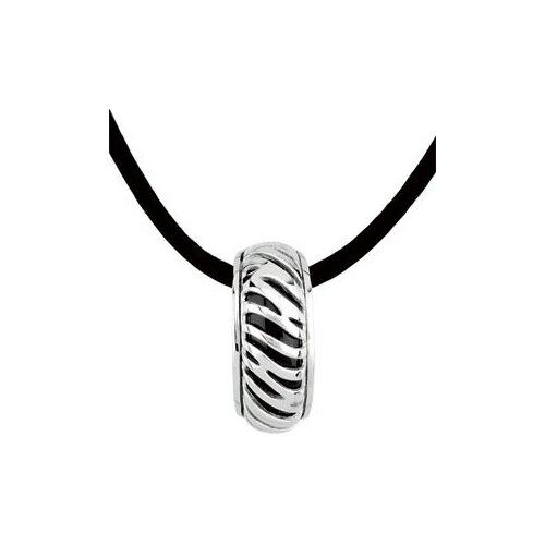 Sterling Silver Genuine Onyx Pendant22.5x6.5mm