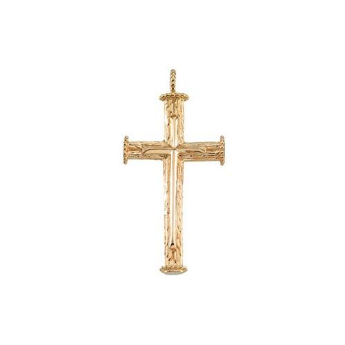Jewelryweb 10k Yellow Gold Cross Pendant39x23mm