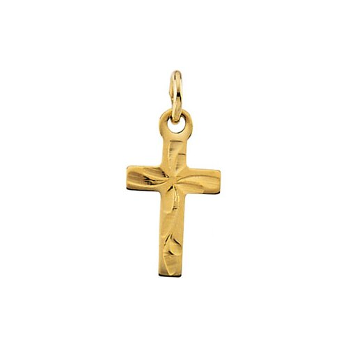 Jewelryweb 14k Yellow Gold Childs Cross Pendant10x6mm