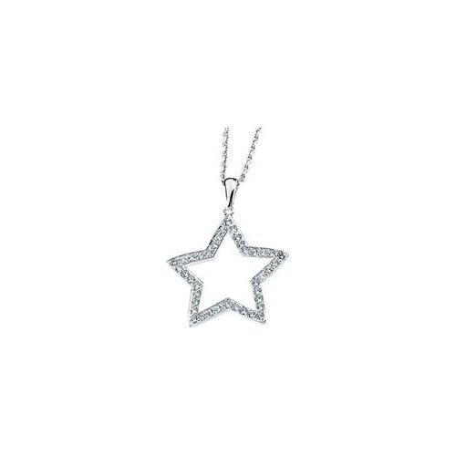 Jewelryweb Sterling Silver CZ Necklace CZ Necklace