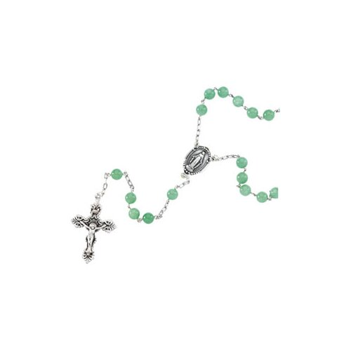 Jewelryweb Sterling Silver Rosary Necklace