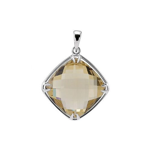 Sterling Silver Genuine Lemon Quartz Pendant