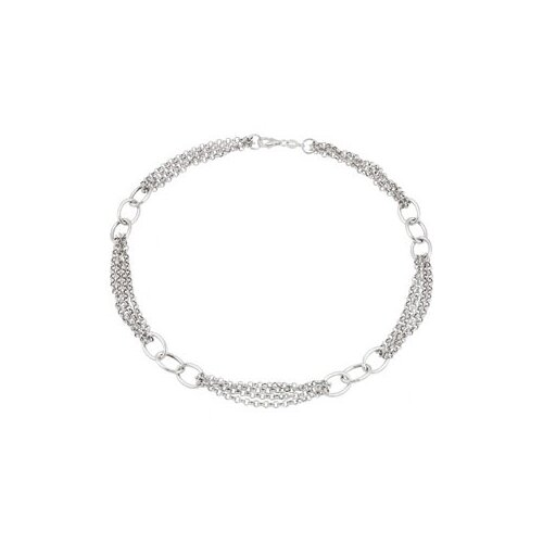 Jewelryweb Sterling Silver Link Necklace 18 Inch