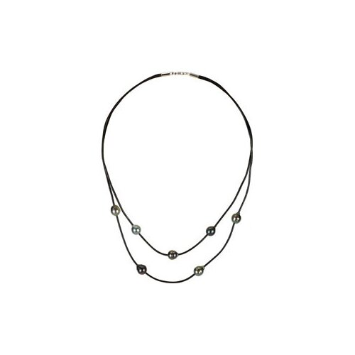 Sterling Silver Tahitian Cultured Pearl Necklace 8mm18 Inch