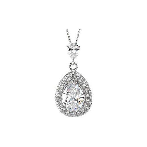 Jewelryweb Sterling Silver CZ Necklace