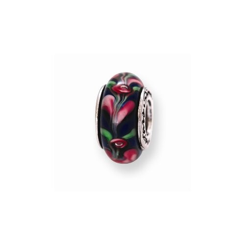 Sterling Silver Reflections Murano Glass Bead Charm