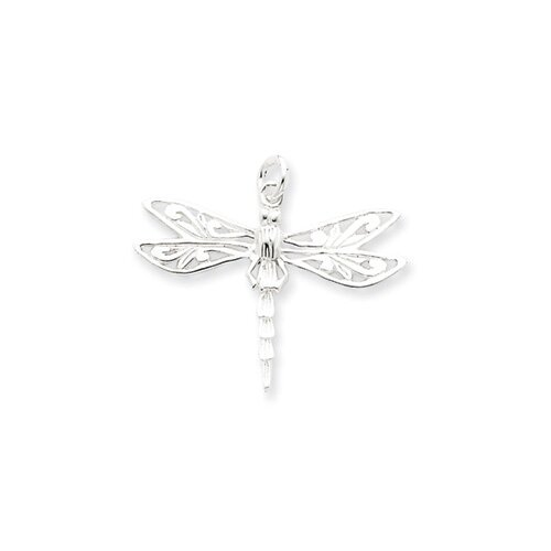 Jewelryweb Sterling Silver Dragonfly Charm