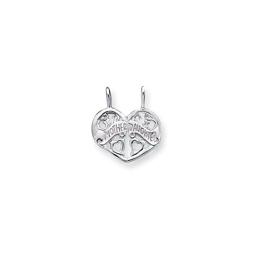 Jewelryweb Sterling Silver Mother Daughter Break Apart Charm