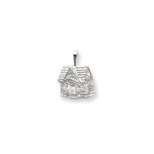 Jewelryweb Sterling Silver House Charm