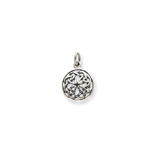 Jewelryweb Sterling Silver Antiqued Celtic Knot Charm