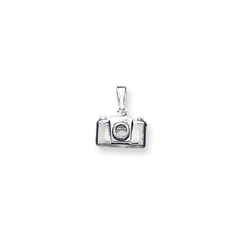 Jewelryweb Sterling Silver Antiqued Camera Charm