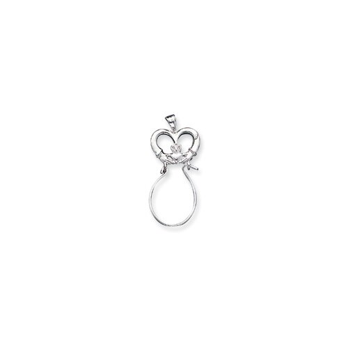Jewelryweb Sterling Silver Claddagh Charm Holder