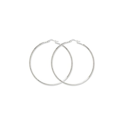 Sterling Silver 70mm Hoops Earrings