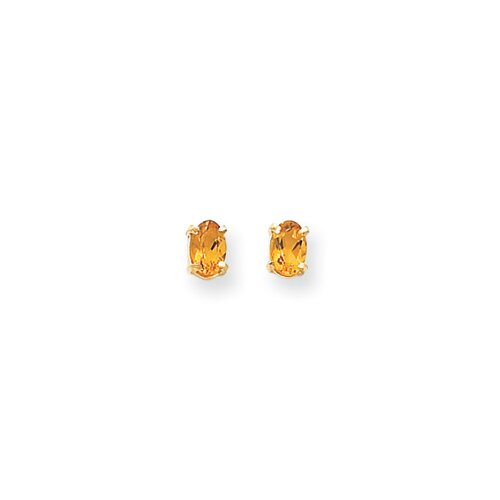 14k Citrine Earrings - November Birthstone