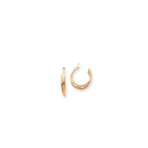 Jewelryweb 14k Polished Hoop Earrings Jackets