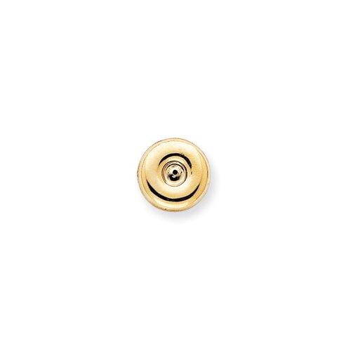 Jewelryweb 14k Polished Round Fancy Earrings Jackets