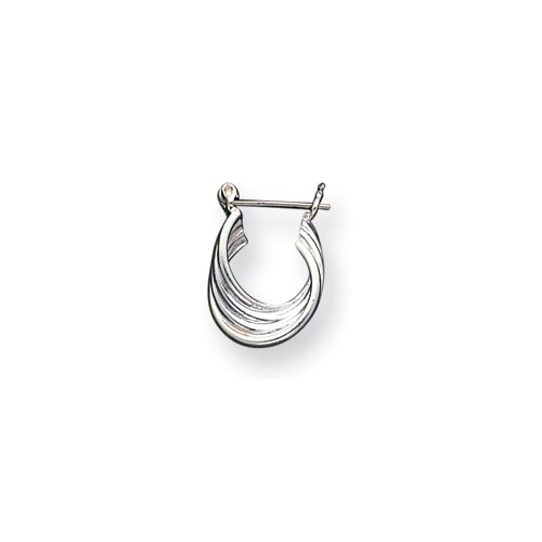 Jewelryweb Sterling Silver Small Hoop Earrings