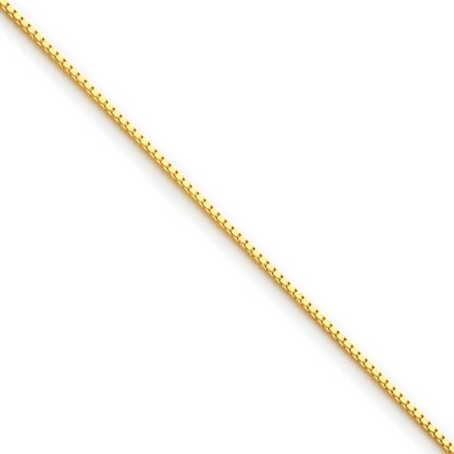 Jewelryweb Gold-plated Ster. Silver 0.6mm Box Chain Necklace