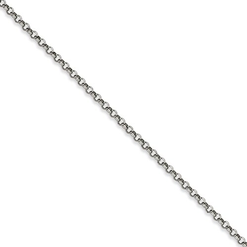 Stainless Steel 6mm Rolo Chain Necklace