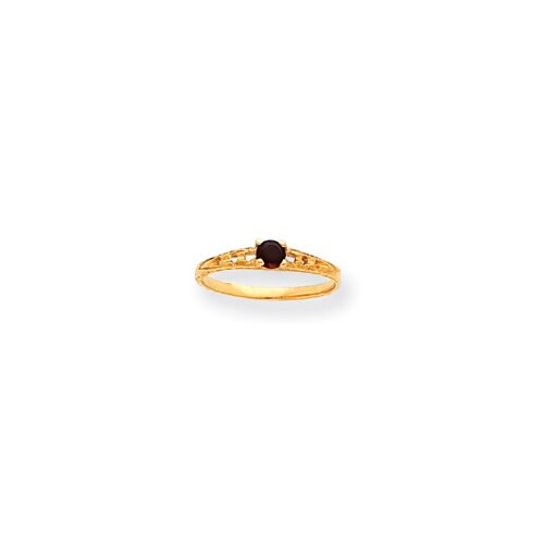 14k 3mm Birthstone Childrens Ring