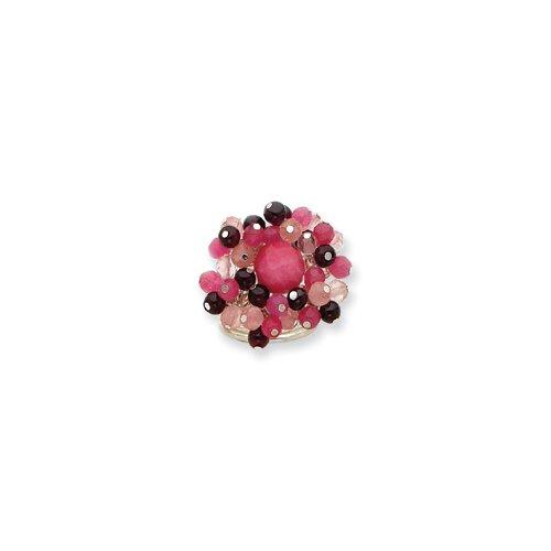 Jewelryweb Strawberry Cherry Quartz Rhodolite Garnet Ring