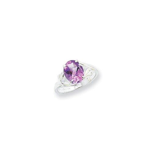 Jewelryweb Sterling Silver Amethyst Ring