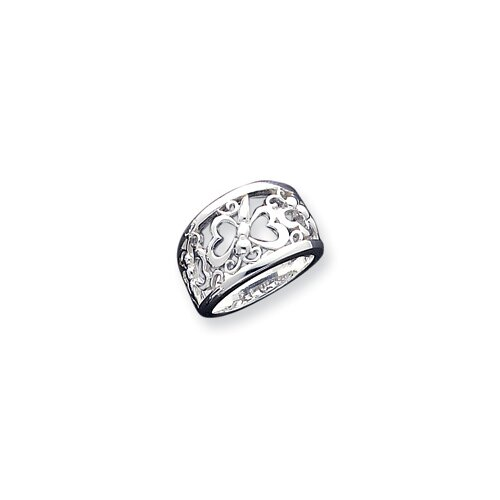 Jewelryweb Sterling Silver Butterfly Ring