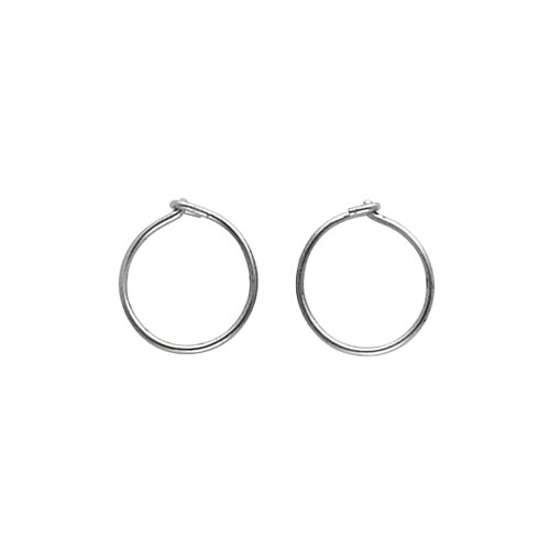 Jewelryweb Titanium Hoop Earring 12mm Pair