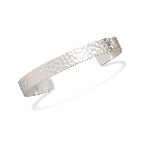 Hammered Mens Cuff Bracelet