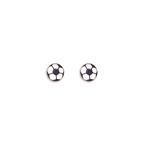 Soccer Ball Stud Earrings