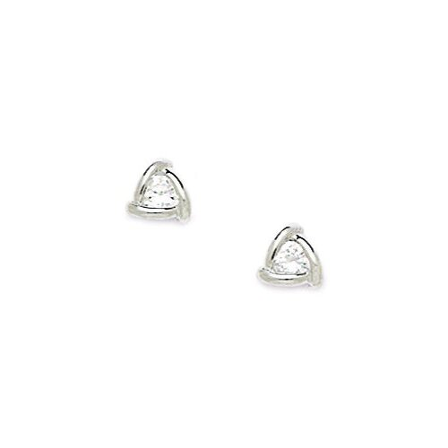Small Triangle Cubic Zirconia Stud Earrings