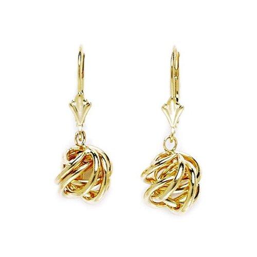 Jewelryweb Large Knot Drop Earrings