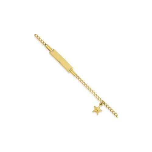 Figaro Dangling Star Children ID Bracelet