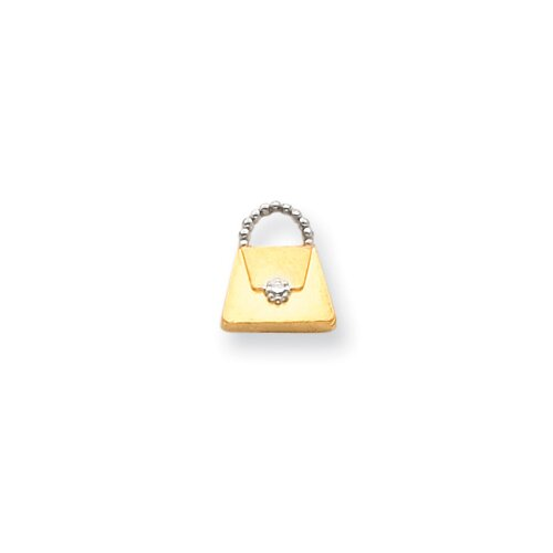 14k Yellow Gold Purse Pendant