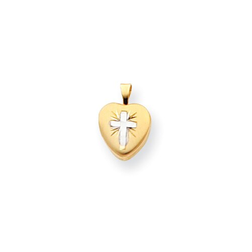 Childs Cross Heart Locket
