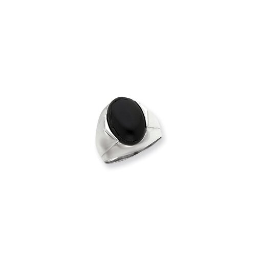 Men's Sterling Silver Oval Solid Ring