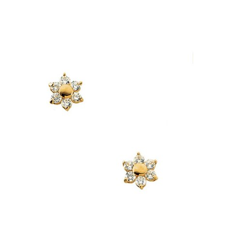 Cluster Cubic Zirconia Stud Earrings