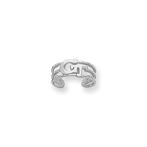 Jewelryweb Sterling Silver Collegiate Georgia Tech Toe Ring