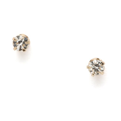 Jewelryweb 14k Polished Reversible CZ and 3mm Ball Earrings