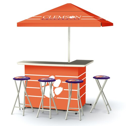5 Piece Clemson Bar Set