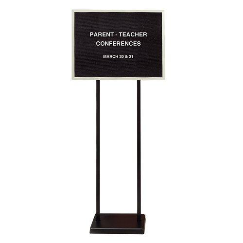 "Ghent Double Pedestal Black Letter Board - 3/4"" Gothic Font Letters"