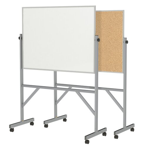Ghent Reversible Acrylate/Cork Whiteboard with Aluminum Frame