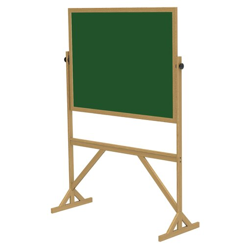 Ghent Duroslate Reversible Green Chalkboard with Wood Frame
