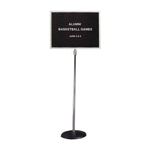 "Ghent Open Face Black Letter Board Pedestal - 3/4"" Gothic Font Letters"