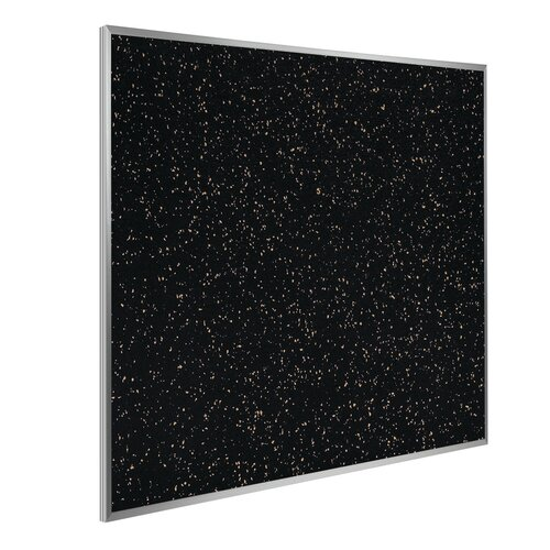 Ghent Aluminum Frame Recycled Rubber Bulletin Board
