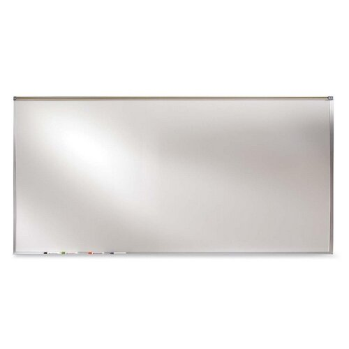 Ghent Projection Board, Dry-Erase Brd, 4'x8', Aluminum Frame/White