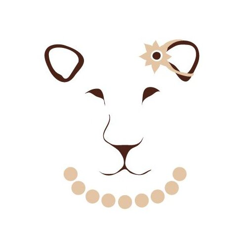 Avalisa Animal Faces Lioness Stretched Canvas Art