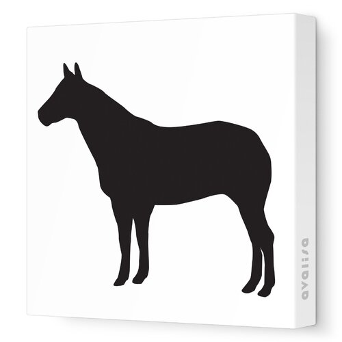 Avalisa Silhouettes Horse Stretched Canvas Art